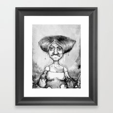 Old Lady Framed Art Print