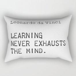 Leonardo da Vinci quote 5 Rectangular Pillow