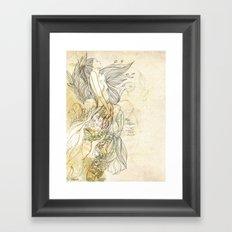 sonho dourado Framed Art Print