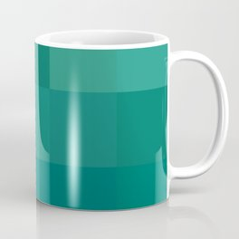 BLOCKS - GREEN TONES - 1 Coffee Mug