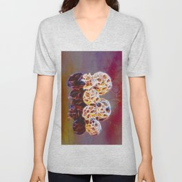 Balls and Cones  Abstract Unisex V-Neck