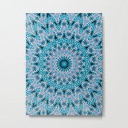 Blue mandala 3 Metal Print