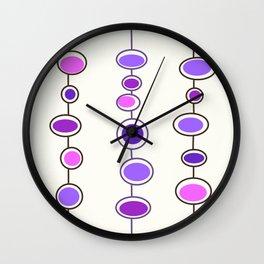 Mid Mod Bubbles in Purple Wall Clock