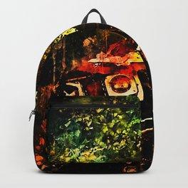 lost place rusty american car wreck splatter watercolor Backpack