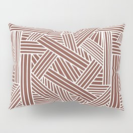 Sketchy Abstract (White & Brown Pattern) Pillow Sham