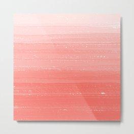 Coral Paint Gradient Metal Print