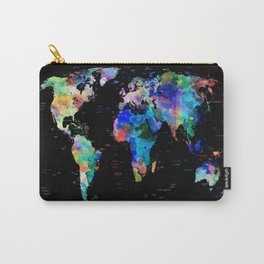 world map political watercolor Carry-All Pouch