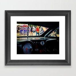 LOOK AT MY WINDSHIELD Framed Art Print