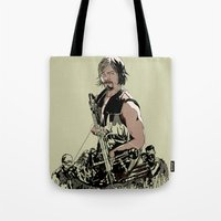 daryl Tote Bags featuring Daryl Dixon by Huebucket