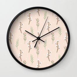 Cotton Stalks Wall Clock