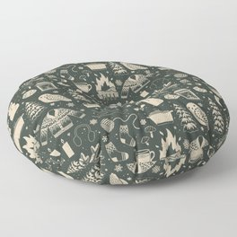 Winter Nights: Forest Floor Pillow
