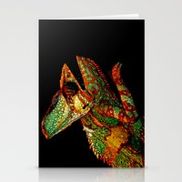 karen Stationery Cards featuring KARMA CHAMELEON by Catspaws
