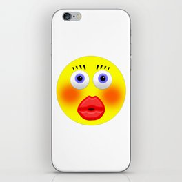 Smiley Embarrassed Kissing Girl iPhone Skin