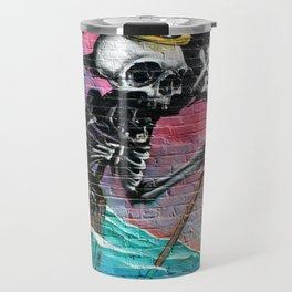 Sailing Skeleton  Travel Mug