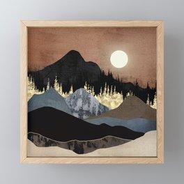 Autumn Mountains Framed Mini Art Print