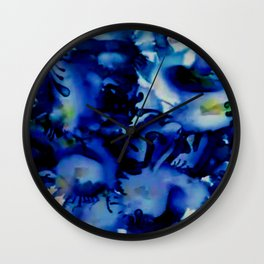 A Splash of Blue Wall Clock