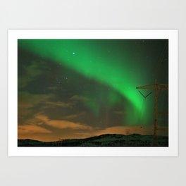 Northern Lights over Norway: Part 2 Art Print