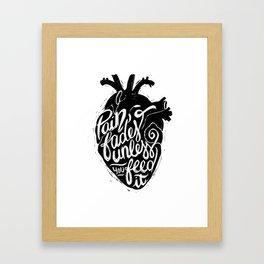 Typo Pain Framed Art Print