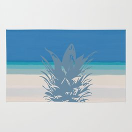 Pineapple Tropical Beach Design Rug