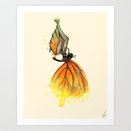 Bookworm Metamorphosis Art Print