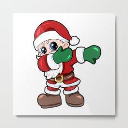 santa dab christmas Nicholas Santa Claus Present Gift Metal Print