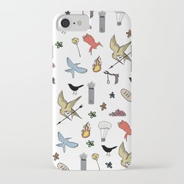 Hunger Game quality pattern - black version iPhone Case
