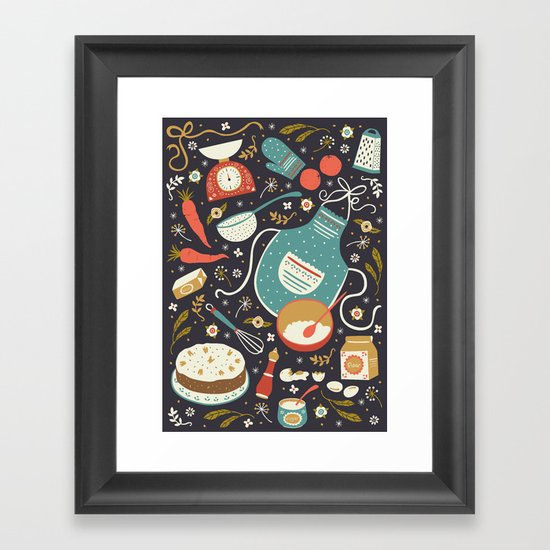 Carrot Cake Framed Art Print