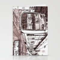 subway Stationery Cards featuring Subway by Jonas Ericson