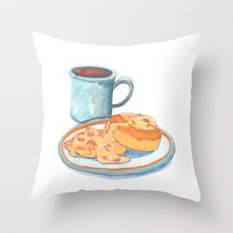 Southern Hygge: Bisuits n' Coffee Throw Pillow