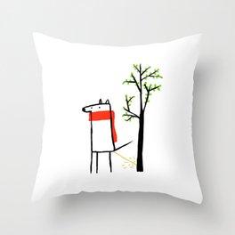 Dogtree Throw Pillow