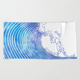 Pacific Waves III Beach Towel
