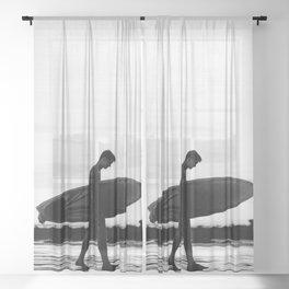Surf Boy Sheer Curtain
