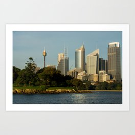 Mrs Macquarie's Chair, Sydney Art Print
