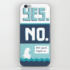 indecisive dolphin iPhone & iPod Skin
