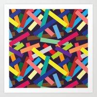 confetti Art Prints featuring Confetti by Joe Van Wetering