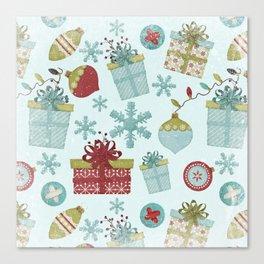 Merry Christmas-Festive gift and Christmas Bowls X-Mas Pattern Canvas Print