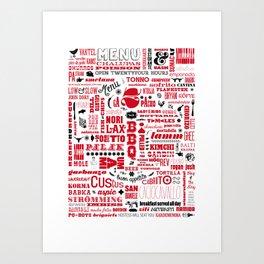 FOODIE POSTER Art Print