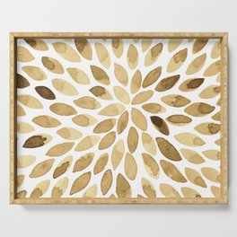 Watercolor brush strokes - neutral Serving Tray