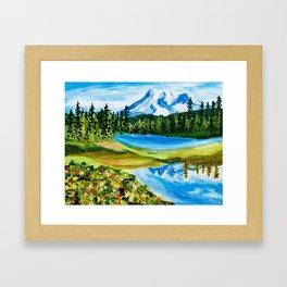 Mt. Rainier Reflections Lake Framed Art Print