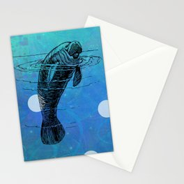 Manatee Fun Stationery Cards