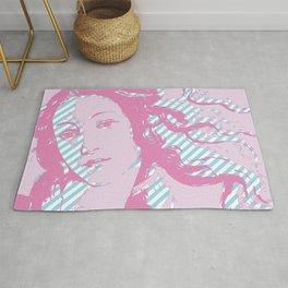Rebirth of Venus - Pink & Cyan - Trans Pride! Rug