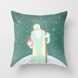 Russian Santa Claus Throw Pillow