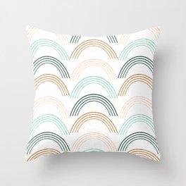 Rainbow #neutral Throw Pillow