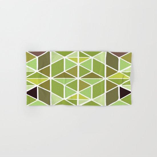 Green Mosaic Hand & Bath Towel