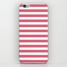 Large Nantucket Red Horizontal Sailor StripesLarge Nantucket Red Horizontal Sailor Stripes iPhone Skin