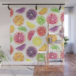 Citrus Wheels Wall Mural