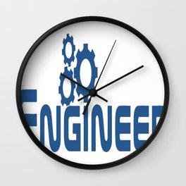 Engineer Logo Wall Clock