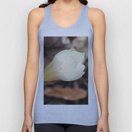 Single White Crocus Unisex Tank Top