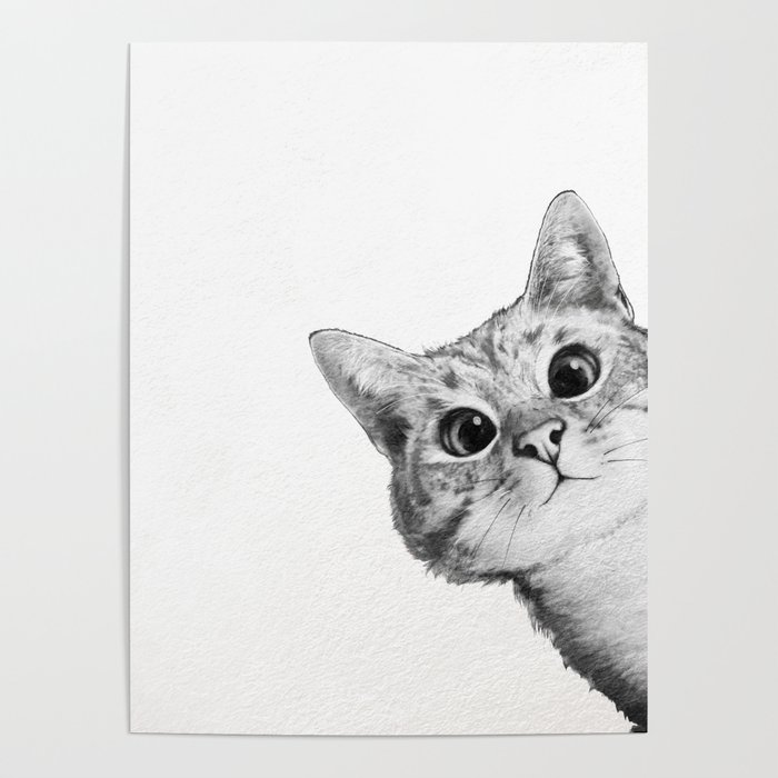 Sneaky Cat Poster By Lauragraves Society6