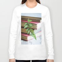 study Long Sleeve T-shirts featuring Botany Study by Colleen Farrell